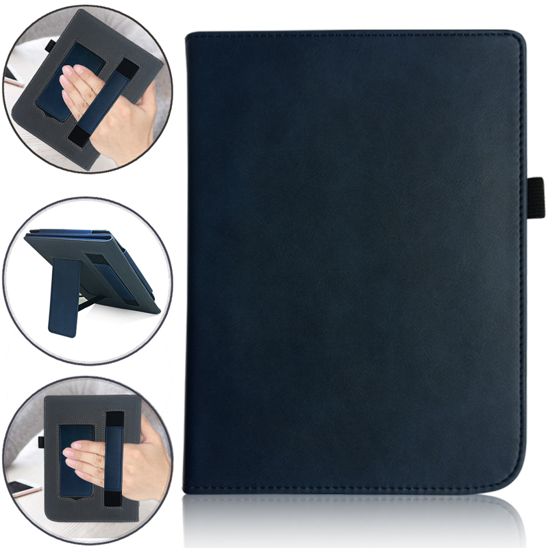 PU Leather Magnetic Handheld/Stand Reading Case For PocketBook 740 7.8 Inch InkPad 3 E-Book Auto Sleep/wake Cover
