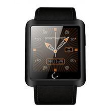 "U-Watch U10L Wasserdicht Leder Smartwatch 1,54 ""Touchscreen Bluetooth 4,0 Kompass Schrittzähler PSG Fernbedienung Sync Smart Uhr"