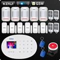KERUI W20 новая модель Беспроводная 2,4 дюймов Сенсорная панель WiFi GSM охранная сигнализация приложение RFID мини передвижной PIR датчик сирена