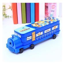 Small train style cute iron stationery box metal  pencil case