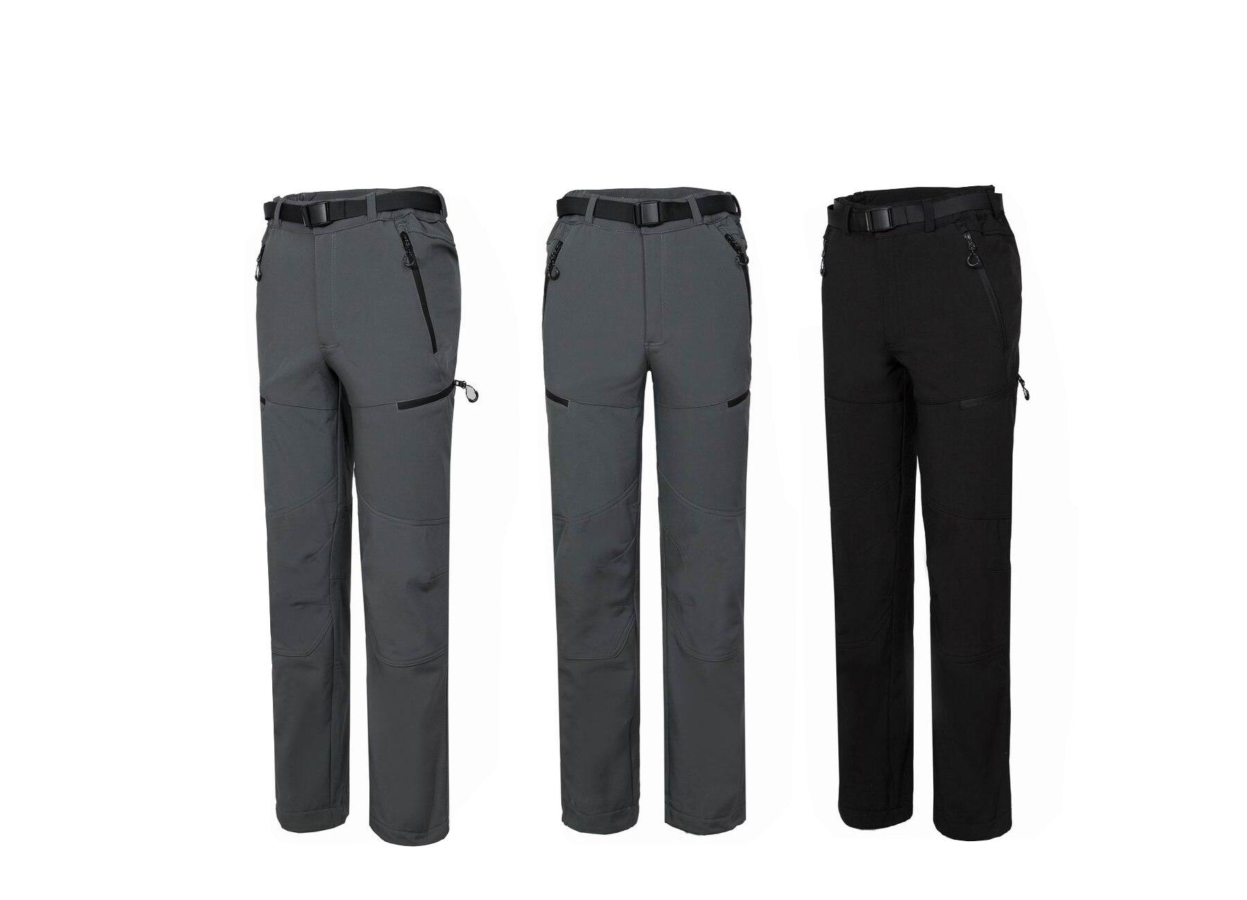 2018 hiver randonnée pantalon hommes randonnée Softshell pantalon hommes coupe-vent imperméable thermique pour randonnée Camping polaire