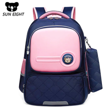 SUN EIGHT Waterproof Children School Bags Boys Girls Orthopedic Schoolbags Backpacks Kids Schoolbags Primary School Backpacks