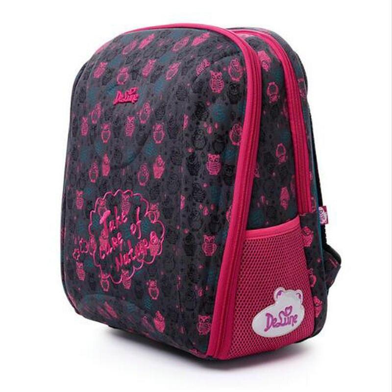 Delune новый жесткий корпус Ева детей школьные сумки для девочек ортопедический рюкзак дети мешок Водонепроницаемый ранцы Mochila Infantil