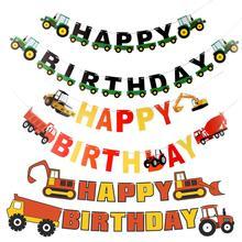 Farm Theme Felt Happy Birthday Banner Tractor Construction Vehicle Happy Birthday Banner  Bulldozer Truck oakland raiders premium felt banner 17x26