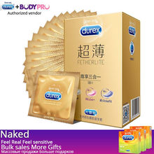Durex Feel Thin Ultra-thin Condom For Men Delay Good Sensitivity Condone Nature Latex Quality Penis Cock Sleeve 20/42/64pcs/lot