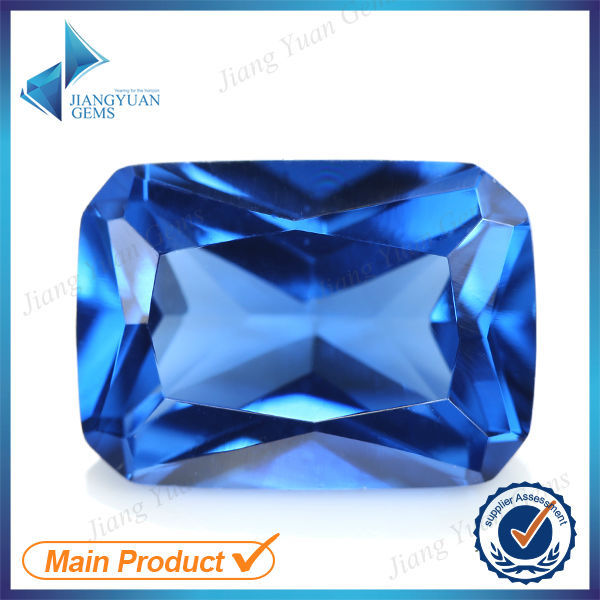 Wholesale 50pcs 109# Pear Octagon Blue Stone 3x5~10x12mm Retangle Brilliant Cut Synthetic Spinel Blue Stone For Jewelry DIY