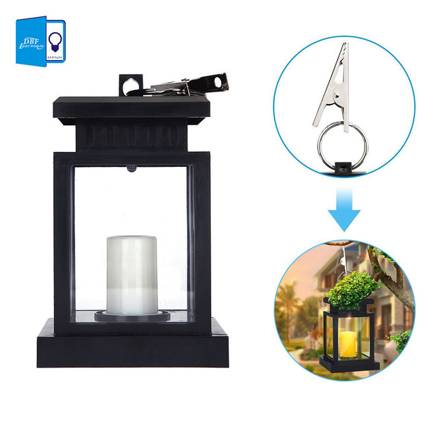 Merveilleux Solar Lights Outdoor,Vintage Solar Hanging Umbrella Lantern Waterproof LED Outdoor  Candle Lantern Decorated In