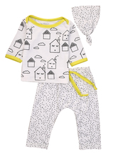 3pcs!!Autumn Winter Baby Clothes Newborn Infant Baby Boy Girl Print Tops +Long Pants Hat Outfits Clothes Set