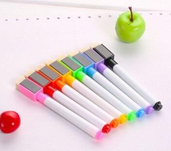 8Pc Erasable Magnetic White Board Marker Pen Whiteboard Marker Liquid Chalk Glass Ceramics Office School Art Marker Colorful Ink