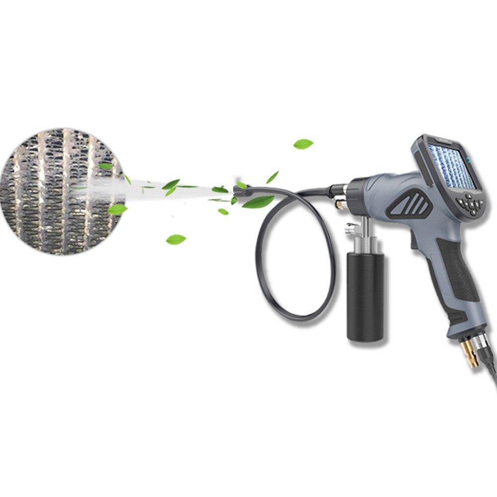 3,5 HD Display Reinigung Gun Endoskop Tragbare Wasserdichte 6 Einstellbare LED Licht Mit 4 Löcher Zerstäubung Sprayer Endoskop