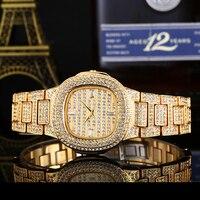 Lureen Iced Out Quartz Watch Women Stainless Steel Waterproof Wristwatch Clock Luxury Brand Crystal Diamond Watches W0006