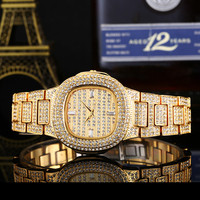 Lureen Quartz Watch Women Stainless Steel Waterproof Wristwatch Clock Luxury Brand Crystal Diamond Watches W0006