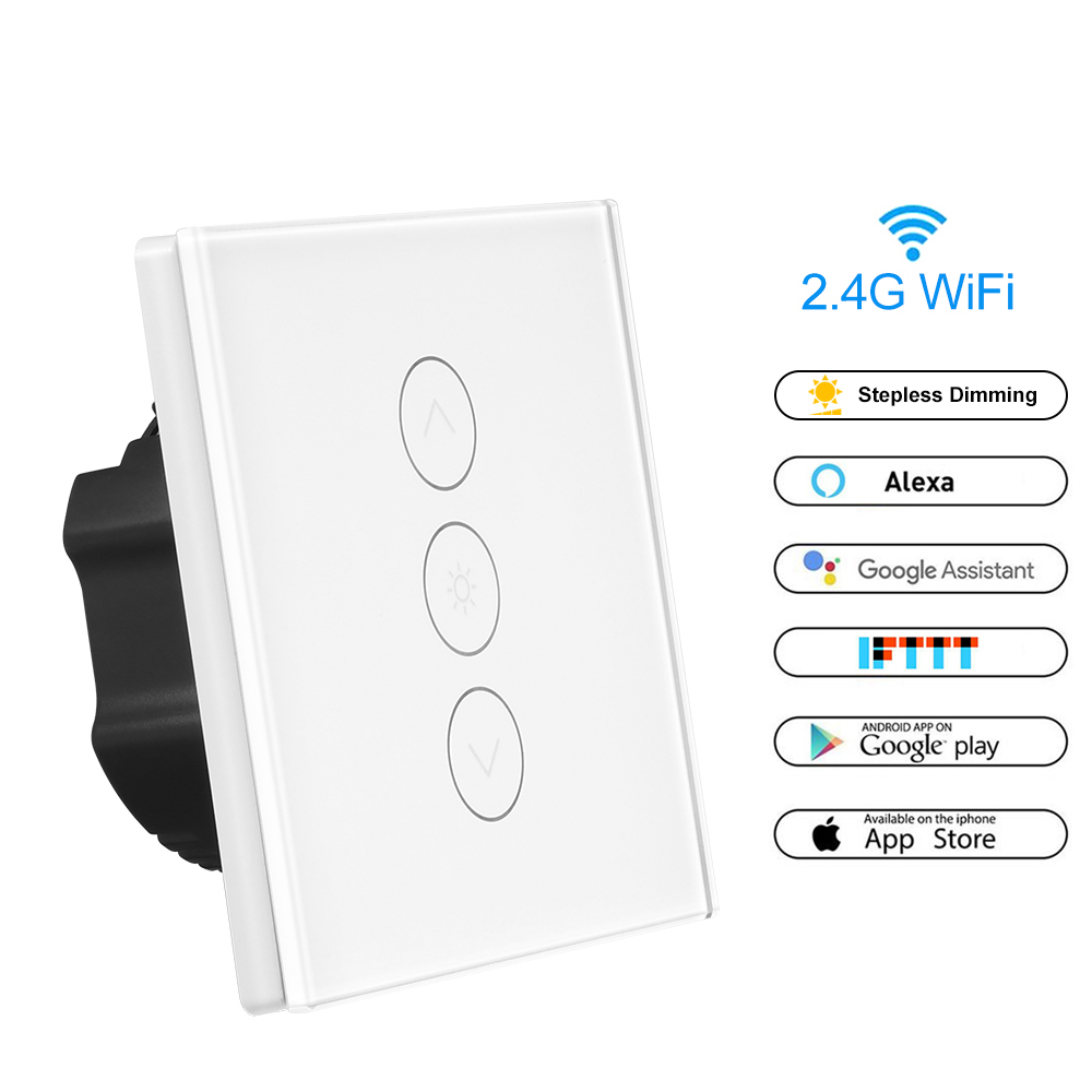 smart light dimmer us  eu standard in wall touch control