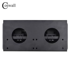 Image 4 - COSWALL plaque en alliage de Zinc 16a, POP UP lente 3 puissances, prise ue, bureau, salle de réunion, hôtel, Table de bureau, couverture noire et mat