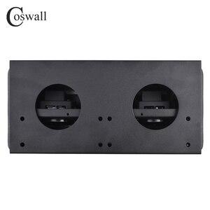 Image 4 - Coswall Zinklegering Plaat 16A Slow Pop Up 3 Power Eu Socket Kantoor Vergaderzaal Hotel Tafel Desktop Outlet Matte zwarte Cover