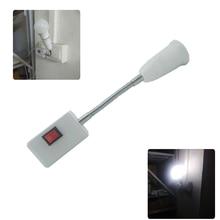 Гибкий E27 ламповый держатель лампы с переключателем 220V 110V Bombillas EU US Plug держатель лампы Энергосберегающая лампада светодиодный Настольный светильник
