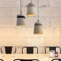 Nordic Винтаж светодиодный подвесной светильник промышленных цемента светильник Лофт Декор Ретро HangLamp Освещение для обеденной подвесные све