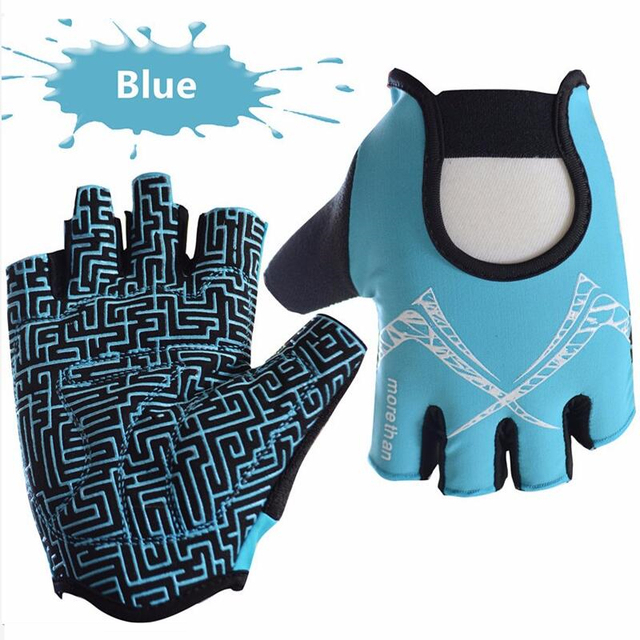 Bike Cycling Gloves  Half Finger Gym Men Woman Gloves Slip Resistant  Sports Body Building Exercise Training Yoga Fitness Glove