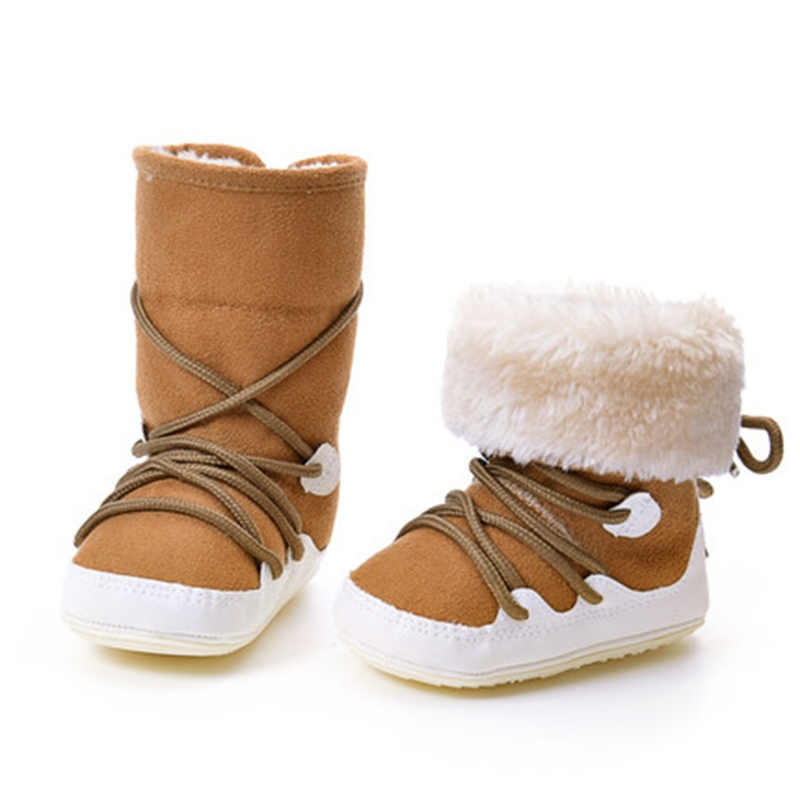2016 Winter baby warm shoes thickening male female child cotton-padded kids snow boots toddler high slip-resistant