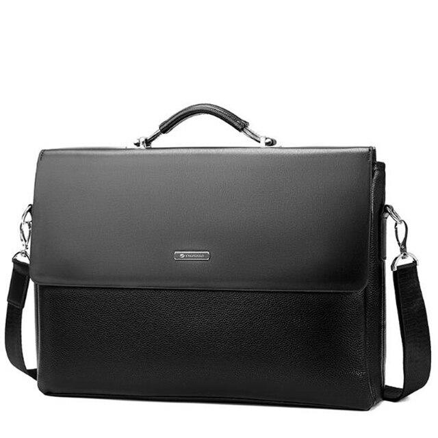 Black Leather Shoulder Bags mens Handbags Casual Satchels Totes Men  Briefcases mochila masculina Business messenger bags Male 607e1df34c52b