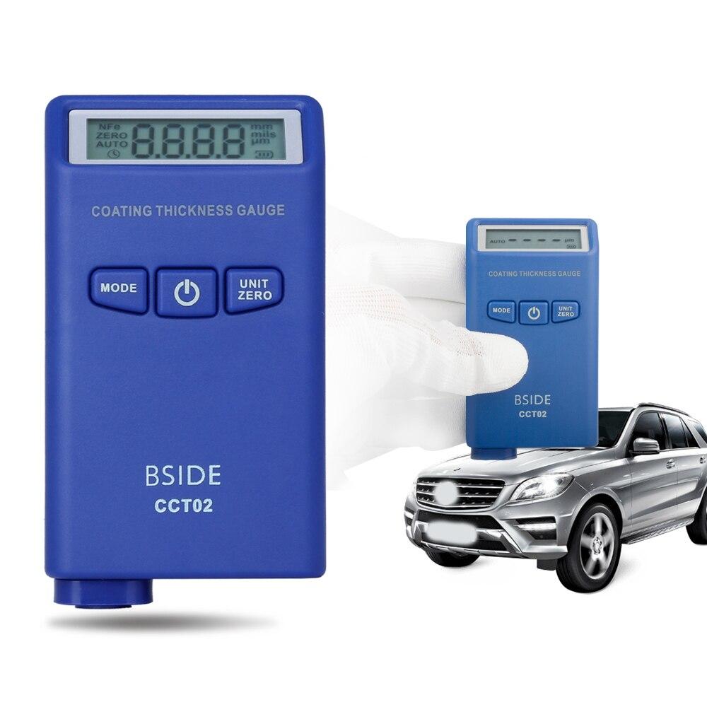 Medidor de Espessura Digital de 0-2000um 50mil Medidor de Espessura de Revestimento Pintura Do Carro Medidor de Auto Verificador da Espessura da Película da Pintura de Medição