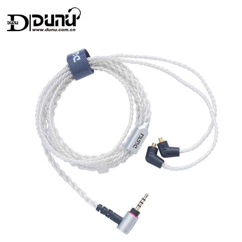 DUNU KMOCS2601 connecteur MMCX Standard 2.5mm 1.2 m câble de mise à niveau équilibré pour écouteurs Shure/falcon-c/DK3001
