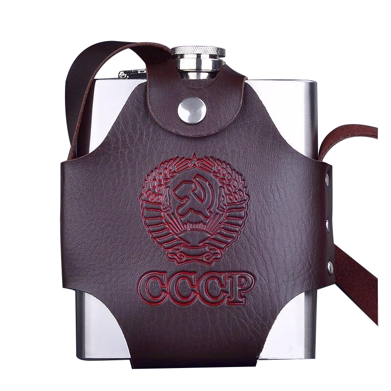 Eworld 18/38/48/64/88/108 / 128oZ Stainless Steel Hip Flask Set CCCP - Dapur, makan dan bar - Foto 3