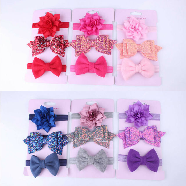 Baby Girl Headband 3 pcs. Stylish Variety Pack Set