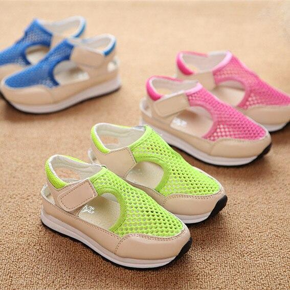 Boys girls kids slippers mesh hollow sandals for children caterpillar anti-slip rubber shoes baby sandal sapato infantil menina