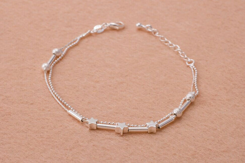 Jewelry & Watches Ladies Girls Silver Star Anklet Ankle Bracelet Chain Adjustable Uk Seller Buy One Get One Free Fashion Jewelry