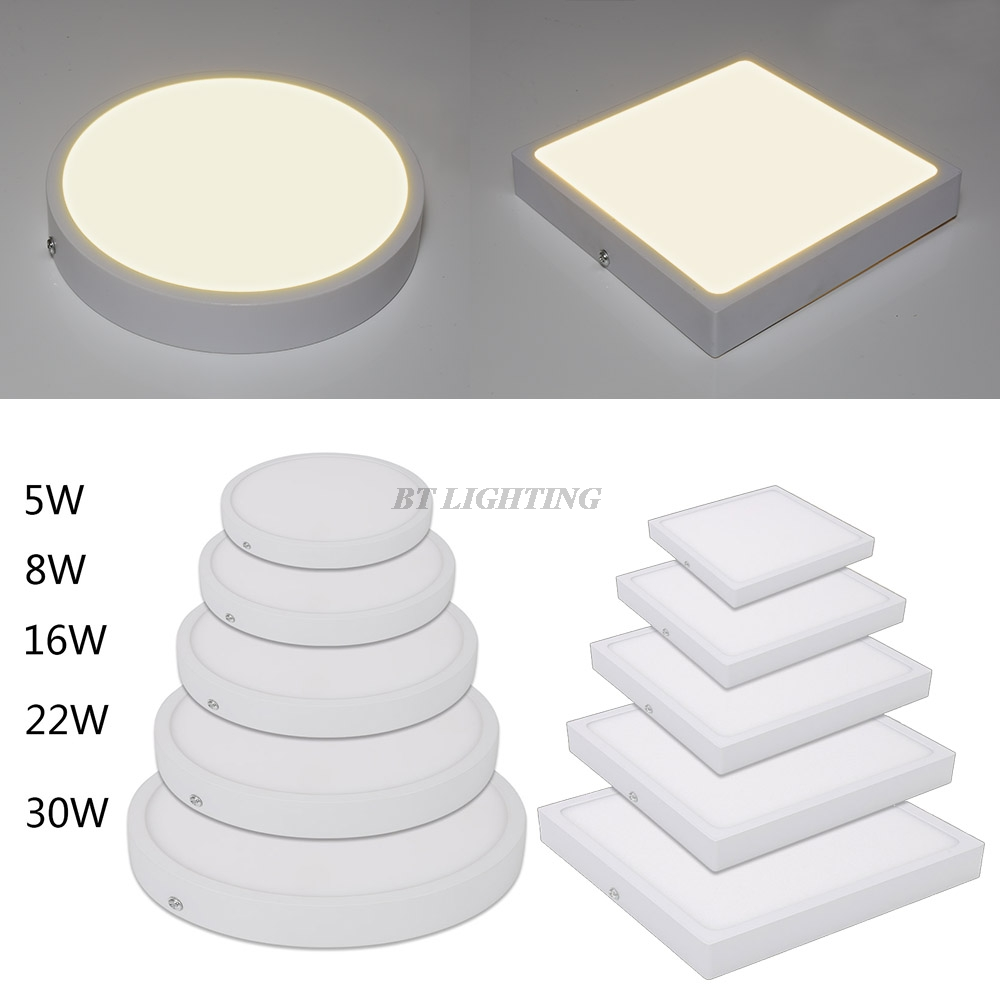 Round Square Panel LED Aluminum Ultra thin LED Panel Light 5w 8w 16w ... for Led Panel Light Square And Round  575lpg