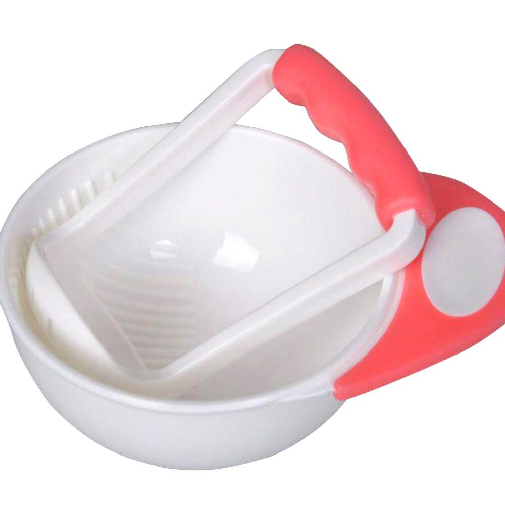 Детские Обучающие блюда, шлифовальная чаша, шлифовальная пищевая добавка, круглый синий+ зеленый ПП, многоцветная каша, фрукты, овощи, здоровый ребенок - Цвет: pink white