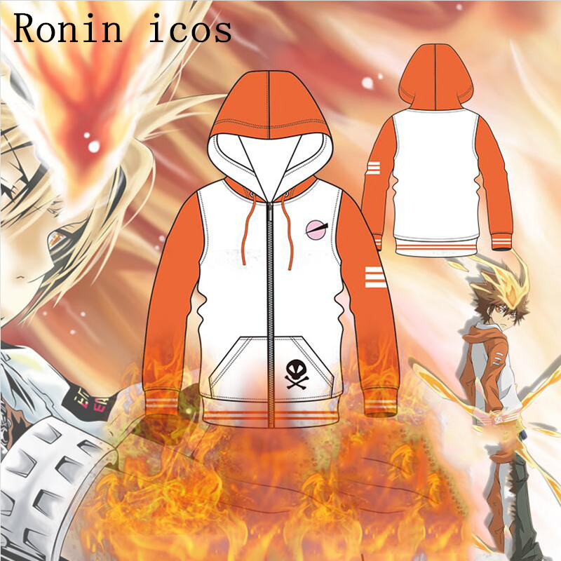 Anime Katekyo Hitman Reborn Cosplay Sawada Tsunayoshi Tsuna Unisex Hoodies Sportwear Coat Casual Jackets Cosplay Costume