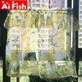 Пасторальный стиль  желтый лимонный кружевной принт  украшение для кухни  Короткая занавеска  тюль с драпировкой  занавеска для гостиной  на...