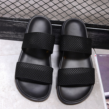 new Summer Breathable Shoes Men's Slippers Beach Sandal Fashion Men Sandals outdoor black net soft Casual Shoes Flip Flop male