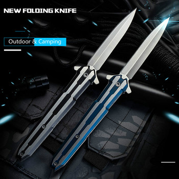 Cuchillo de caza herramientas de mano Cuchillos plegables Mini cuchillo de bolsillo...