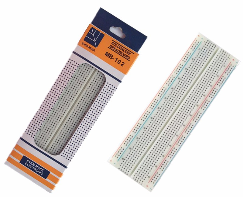 Image 5 - MB102 Prototype Breadboard For DIY KIT MB 102 Protoboard PCB Board BreadBoard 16.5X5.5CM 830Holes Solderless Universal Prototype-in Integrated Circuits from Electronic Components & Supplies