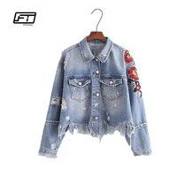 Fitaylor Spring Autumn Women Denim Jacket European Styl Fashion Embroidery Patchwork Tassel Slim Short Design Jacket