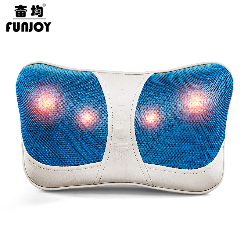 цена на Electric Infrared Neck Massager Car Home Cervical Shiatsu Massage Neck Back Waist Body Electric Multifunctional Massage Pillow