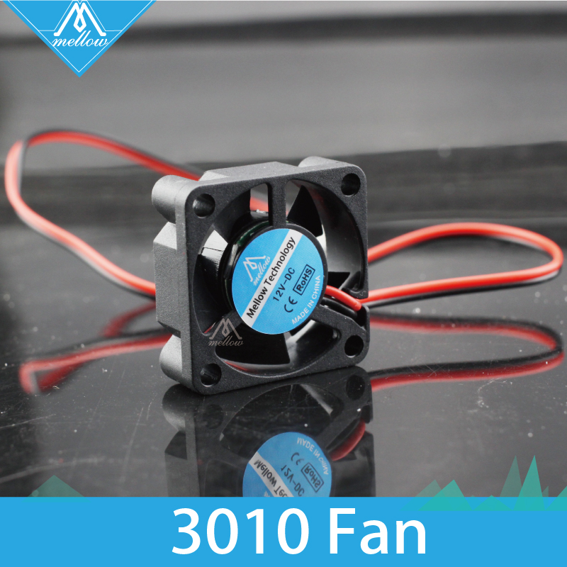 Free shipping 12V/24V V6/V5 radiator 3010 fan 30*30*10mm 3010s DC small fan cooling extruder 2-wire 3d printer accessories part free delivery original afb1212she 12v 1 60a 12cm 12038 3 wire cooling fan r00
