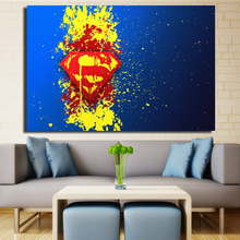 Superman Logo Home Decoration Wall Art Pictures Canvas Oil Painting