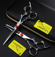 Professional women hairdressing scissors set 6 inches beauty salon Straight Snips and teeth scissors barbershop styling tools