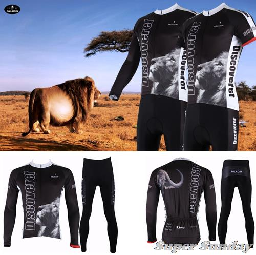 Hot Sales Spring & Autumn Cycling Jersey Winter Cycling Set Long Sleeve Bike Jerseys  Men's Fleece Racing Suit Free Shipping