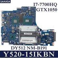 KEFU DY512 NM-B191 Laptop motherboard for Lenovo Y520-15IKBN Test original mainboard I7-7700HQ GTX1050