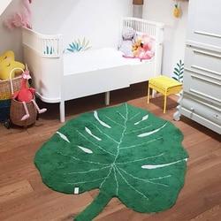 Nordic Baby Carpet Cotton Baby Leaf Play Mat Activity Game Playmat Rug Decoration Children Room Mat Kids Toys Blanket Carpet