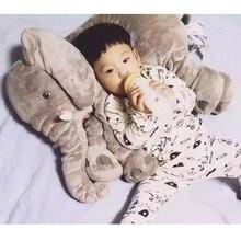 40cm Plysch Elephant Toy Baby Sova Rygg Kudde Mjuk Fylld Kudde Elephant Doll Nyfödd Playmate Doll Doll Kids Födelsedag Gift