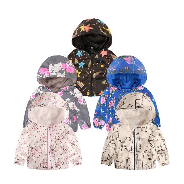 Новая Брендовая детская одежда, куртки для мальчиков и девочек, детская ветровка с капюшоном для младенцев, водонепроницаемые толстовки, пальто для малышей, для детей, От 2 до 7 лет