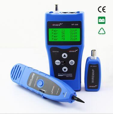 Бесплатная доставка! Noyafa NF-308 синий сеть LAN кабель длина тестер RJ45 RJ11 USB BNC кабель искатель трассирующими-отправитель