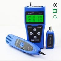 Free Shipping NOYAFA NF 308 Blue Network LAN Cable Length Tester RJ45 RJ11 USB BNC Cable