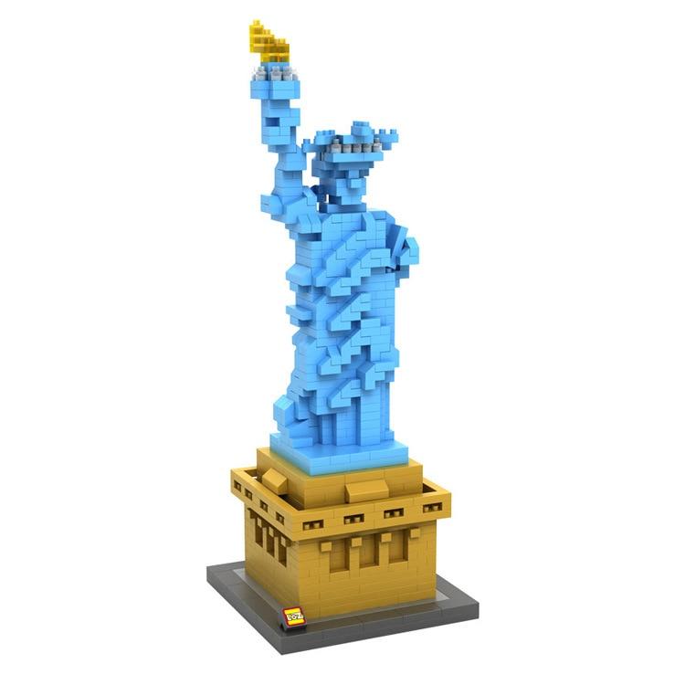 2017 World Famous architecture Statue of Liberty New York America USA United States mini diamond building block nanoblock model loz 9388 empire state building new york united states mini diamond block world famous architecture nanoblock educational toys